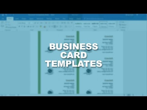 Microsoft Word 2016 Essential Training | Business Card Template