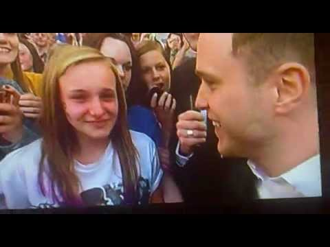 Olly Murs Troublemaker - Girl Goes Crazy For X Factor idol in 2012 - Watch to End - Dermot Reaction