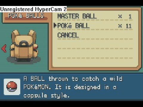 Pokemon Firered/Leafgreen- Catching Suicune In A Pokeball
