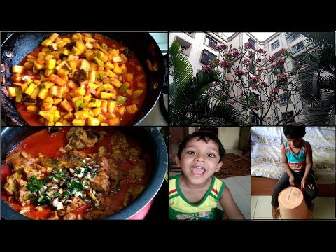 Kerala Woman Lunch Routine and Kids Play and Garden View Vlog / No - 14