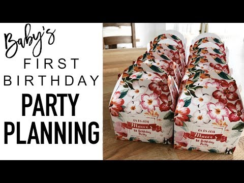 1st Birthday Party Planning | DRESS, PARTY BAGS & DECOR inc FLOWER WALL