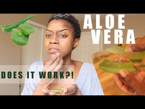 Fresh Aloe Vera Gel on My Skin for 5 Days | DOES IT ACTUALLY WORK?