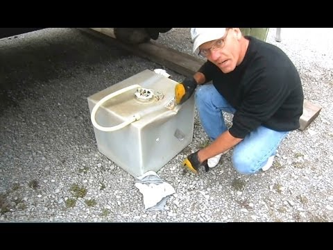 Boating How To - Holding Tank Replacement Project - Part 1 - Removing Old Tank