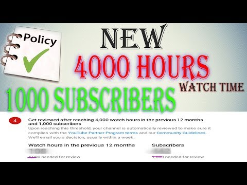 Youtube new Policy 40000 HOURS watch time and 1000 subscriber