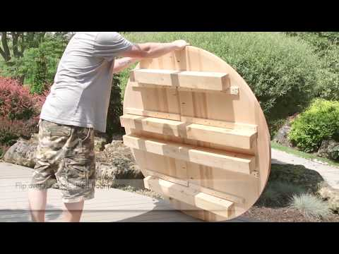 Dundalk LeisureCraft Cedar Outdoor Shower Assembly