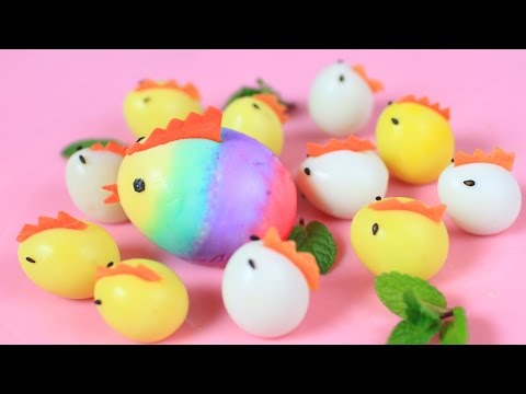 Easter Chicken-Shaped Eggs
