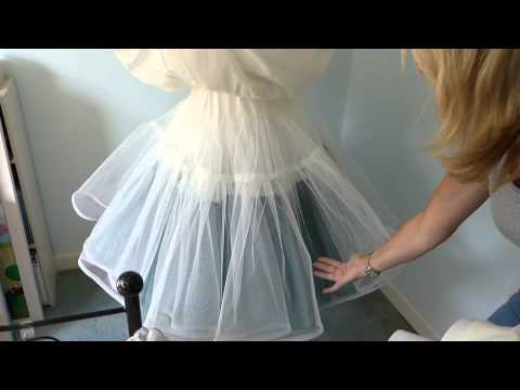 How to make an underskirt for a wedding dress