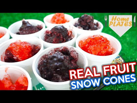 SWEET FRUIT SNOW CONES! | Home Plates