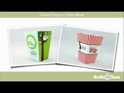 Candles & Favors Custom Popcorn Boxes
