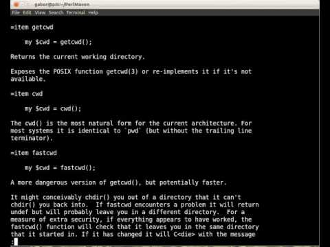 Behind the scenes of Perl Modules