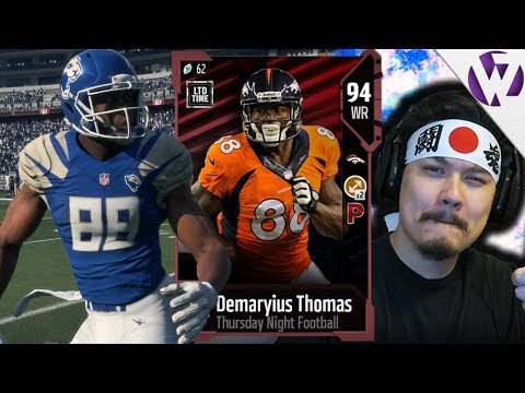 THURSDAY NIGHT FOOTBALL DEMARYIUS THOMAS MAKES BIG PLAYS! - Madden 18 TNF Demaryius Thomas Gameplay