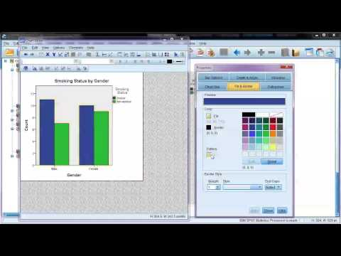Edit charts in SPSS: Example using a clustered bar chart