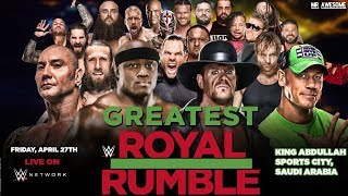 WWE GREATEST ROYAL RUMBLE 2018 ► ENTRY PREDICTIONS & RETURNS