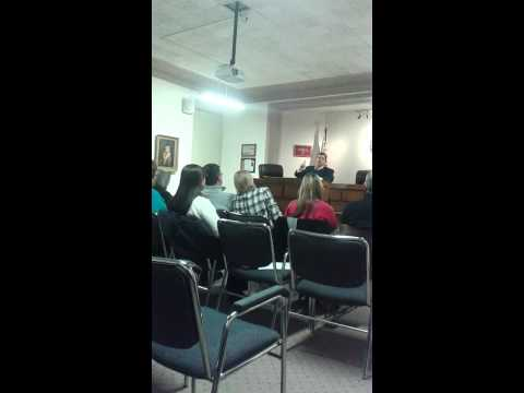 1/8/2014 at grayson co. Tx. Commisioners meeting