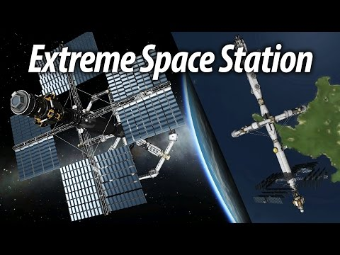 Extreme Space Station Completion  (Tutorial: 24) Kerbal Space Program 1.1.3 Stock