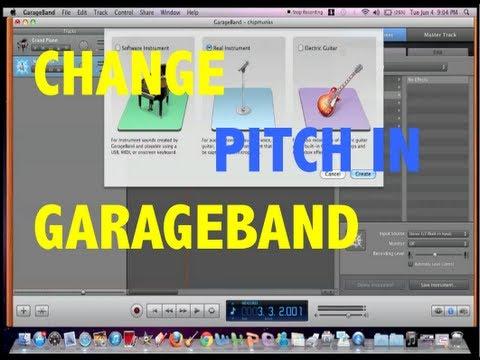 Changing the Pitch in Garageband (Chipmunks Effect)