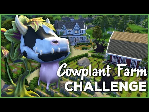 When A Cowplant Eats Your Great-Aunt... 🐄🌱 Sims 4 Cowplant Farm Challenge Rules & Intro!!