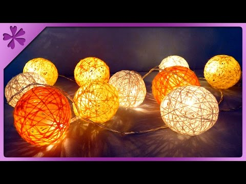 DIY Cotton ball lights (ENG Subtitles) - Speed up #258