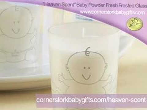 Baby Shower Party Favor - Baby Powder Scented Candle