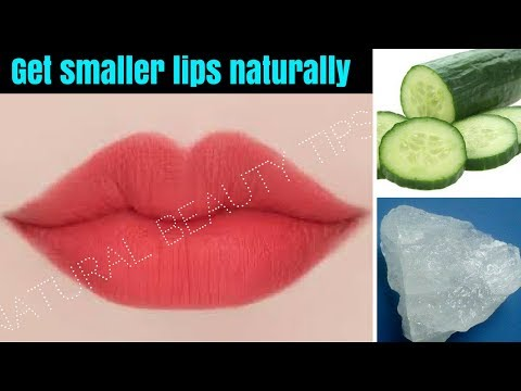 How to Make Big Lips Smaller Without Surgery Naturally || Get Lean & Small lips || NaturalBeautyTips
