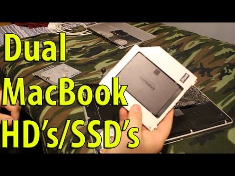 How to: Dual Hard Drives in MacBook Pro | SSD Install | Boot test