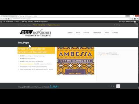 BEE Novation - WordPress Website Tutorial 1