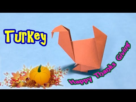 Origami Tutorial to Make Turkey for Thanksgiving | Easy Craft Ideas for Kids