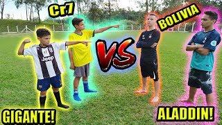 ALADDIN E BOLIVIA vs GIGANTE E CR7! 2 vs 2!!!