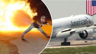 Passenger's fart forces American Airlines flight to land, aircraft evacuated - TomoNews