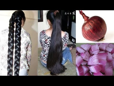 HOW TO GROW LONG THICK HAIR WITH ONION! WORLDS BEST REMEDY FOR FAST HAIR GROWTH!