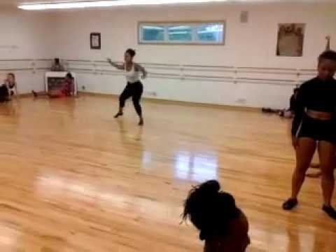 AGW Conservatory dance critique ~ Ms. Angie perfecting dance routine