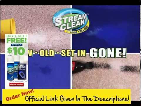 Get Stain Out Of Carpet! Get Stream Clean ! The Stand Up Way To Blast Pet Stains & Odors Away!