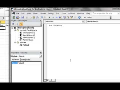 Excel 2010 VBA Tutorial 6: Creating User Input Message Box