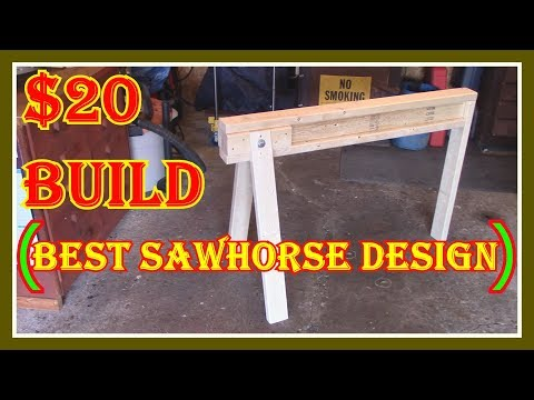 WOODEN SAWHORSE  BUILD FOR LESS THAN $20 - STRONG AND EASY TO BUILD  -  LET'S BUILD IT TOGETHER