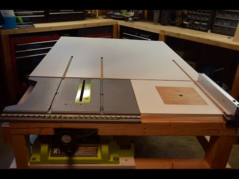How to build a homemade table saw extension with a router table built in. [PART 1]