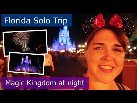 Day 12 | Magic Kingdom at night | Walt Disney World solo trip | Florida 2017