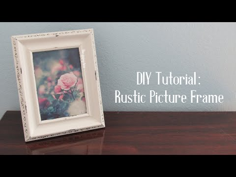 Distressed Picture Frame DIY Tutorial | TheGypsyBox