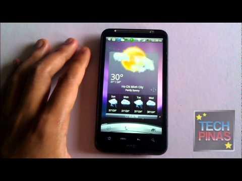 Weather Widget and App on HTC Desire HD