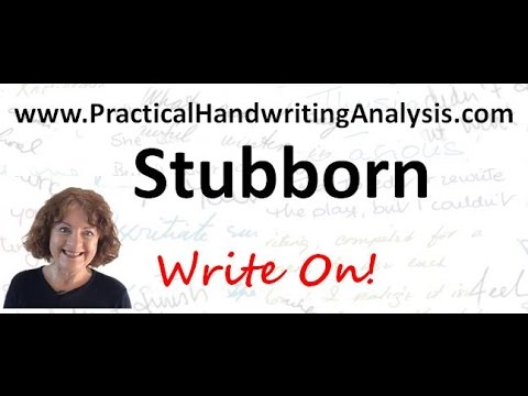 Personality from Handwriting Signature - Stubborn (Graphology)