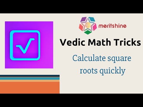 Calculate square roots quickly - Vedic Maths tricks in English