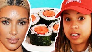 People Try Kim Kardashian's Hot Dog Sushi