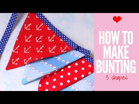 How to make Bunting | Baby Bunting | Bunting Template | Wedding Bunting |  DIY Bunting