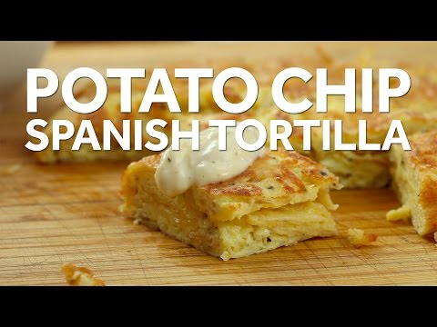 How to Make a Potato Chip Spanish Tortilla