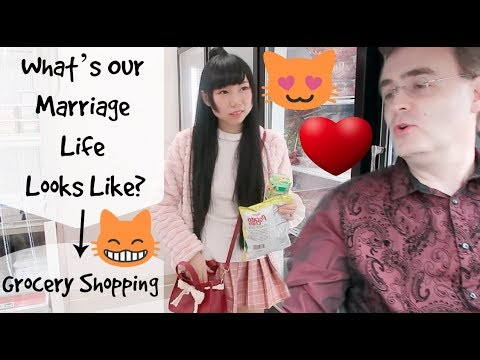 What's Our Marriage Life Looks Like? Grocery Shopping At Japanese&Korean Markets! Part1