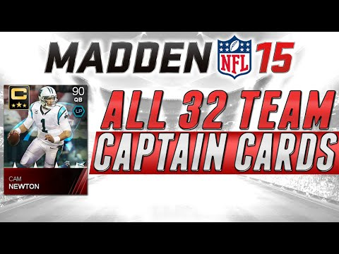 MUT 15 - All 32 Elite Team Captains and Stats in Madden 15 Ultimate Team