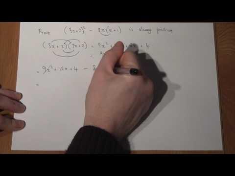 GCSE Maths Proof, expanding and factorising