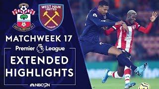 Southampton V West Ham PREMIER LEAGUE HIGHLIGHTS 121419 NBC Sports