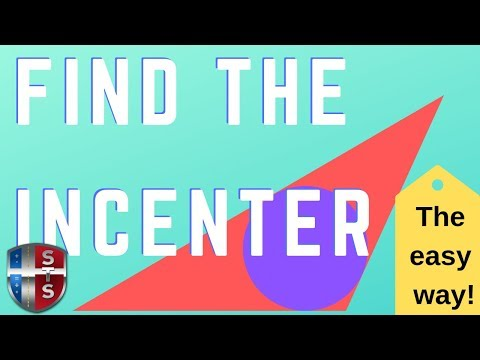 Geometry - Construct - Find the incenter of the triangle