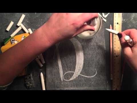 SheShe Design Chalk Script Lettering UPPERCASE D