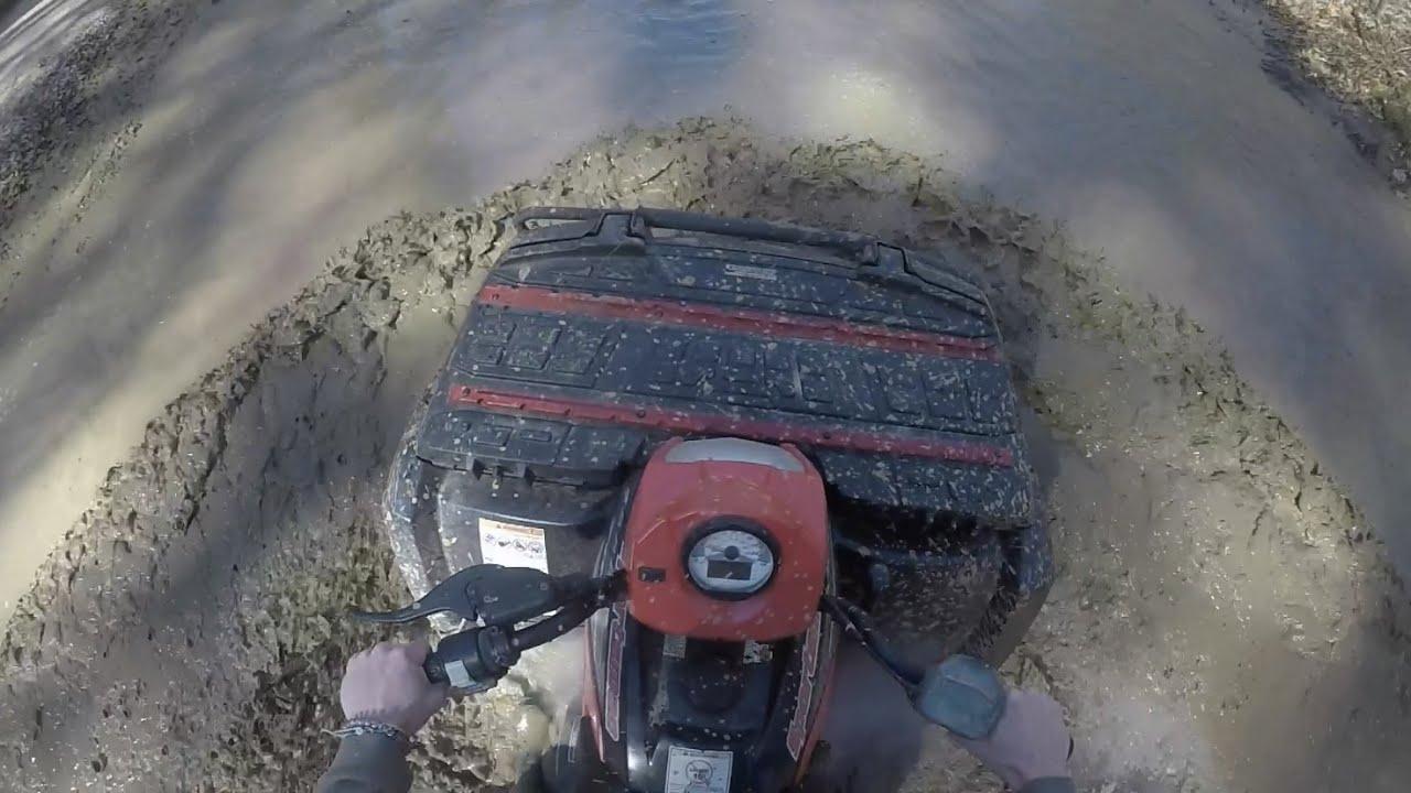 Dry Creek Mudding and Trail Riding Polaris Sportsman 700